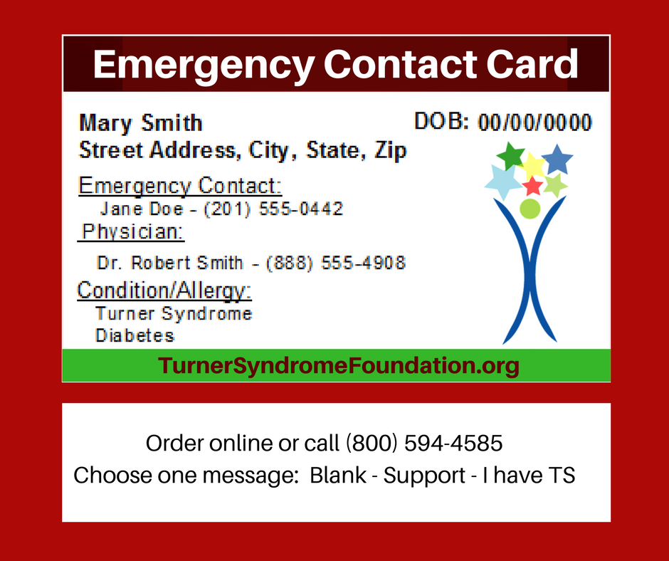 Order Online Or Call 800 594 4585 3 Turner Syndrome Foundation